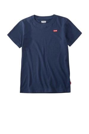 Levi's Kids basic T-shirt Batwing chest met logo donkerblauw