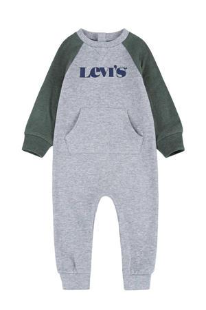 Levi's Kids baby boxpak met logo grijs melange/groen