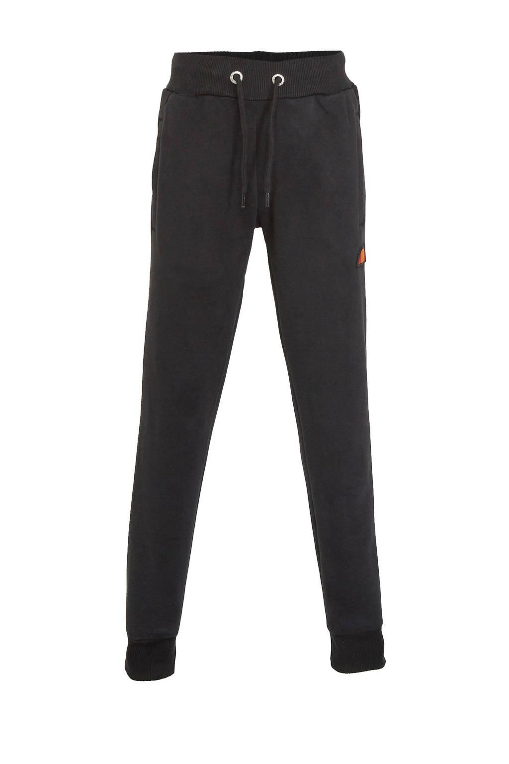 Ellesse regular fit joggingbroek met logo zwart, Zwart