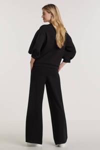 Summum Woman flared broek zwart, Zwart