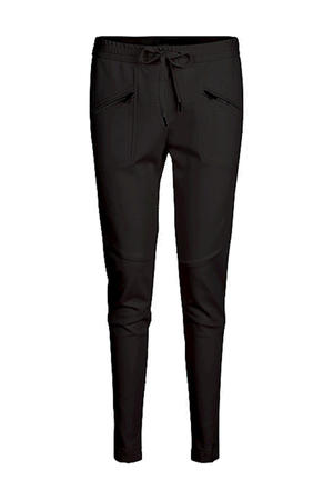 tapered fit broek zwart