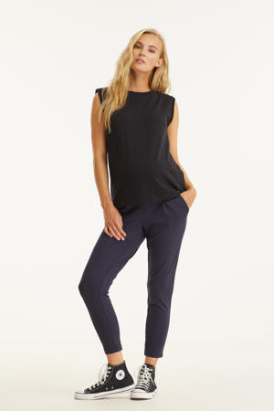 low waist loose fit broek OLMPOPTRASH donkerblauw