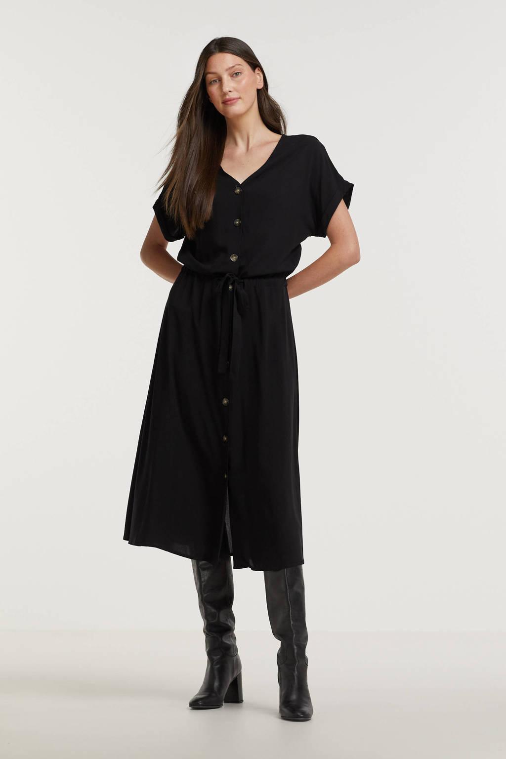 Soyaconcept jurk Radia 108 met plooien zwart, Zwart