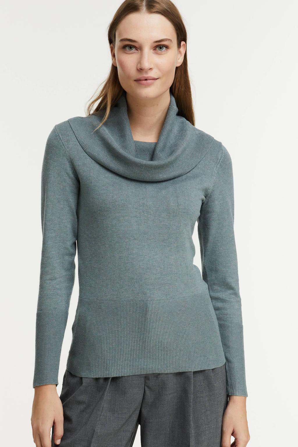 Soyaconcept gebreide trui Dollie 305 grijsblauw, Grijsblauw