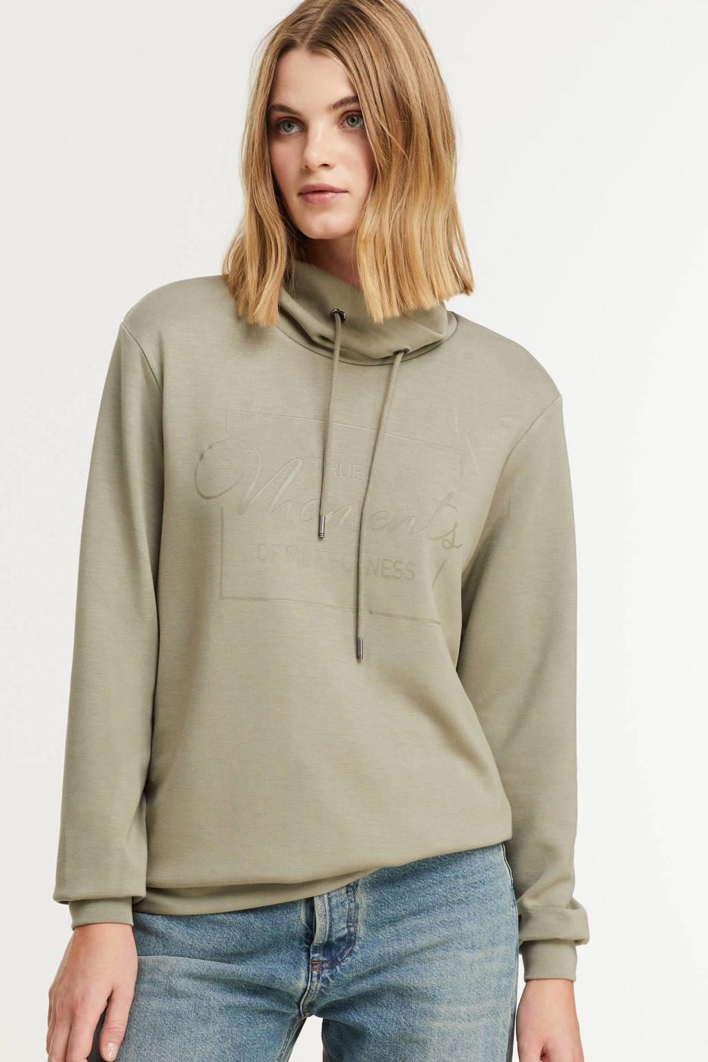 Soyaconcept sweater Banu 35 met printopdruk groen, Groen