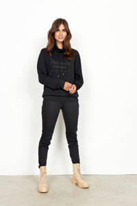 Soyaconcept sweater Banu 35 met printopdruk zwart, Zwart