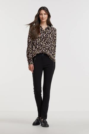 slim fit broek Lilly 35-B zwart
