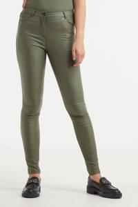 Soyaconcept coated slim fit broek Pam 3-B groen, Groen