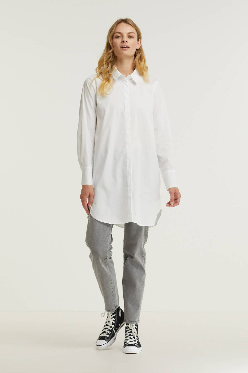 Soyaconcept blouse Tokyo 2 van gerecycled polyester wit, Wit