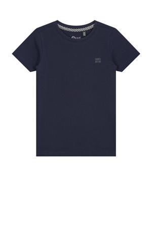 basic T-shirt donkerblauw