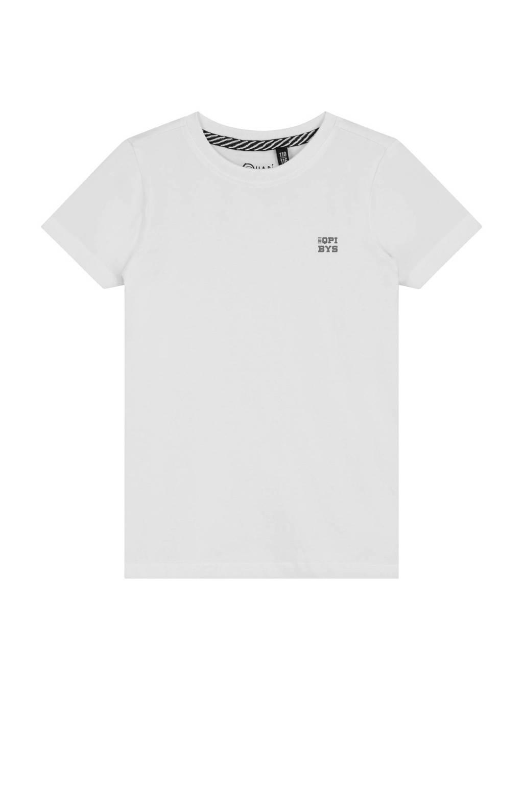 Quapi basic T-shirt Joshua wit, Wit