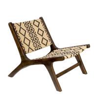 Dutchbone fauteuil Landa, Bruin