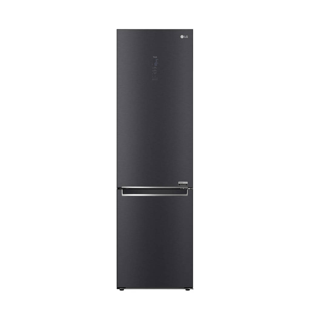 LG GBB92MCABP koel-vries combinatie, Zwart