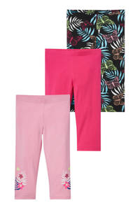C&A Palomino legging - set van 3 roze/fuchsia/zwart