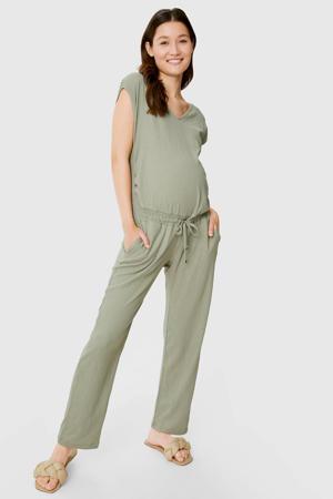 zwangerschapsjumpsuit olijfgroen
