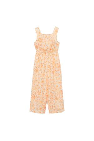 gebloemde jumpsuit geel/oranje