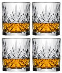 Jay Hill whiskyglazen (set van 4), Transparant