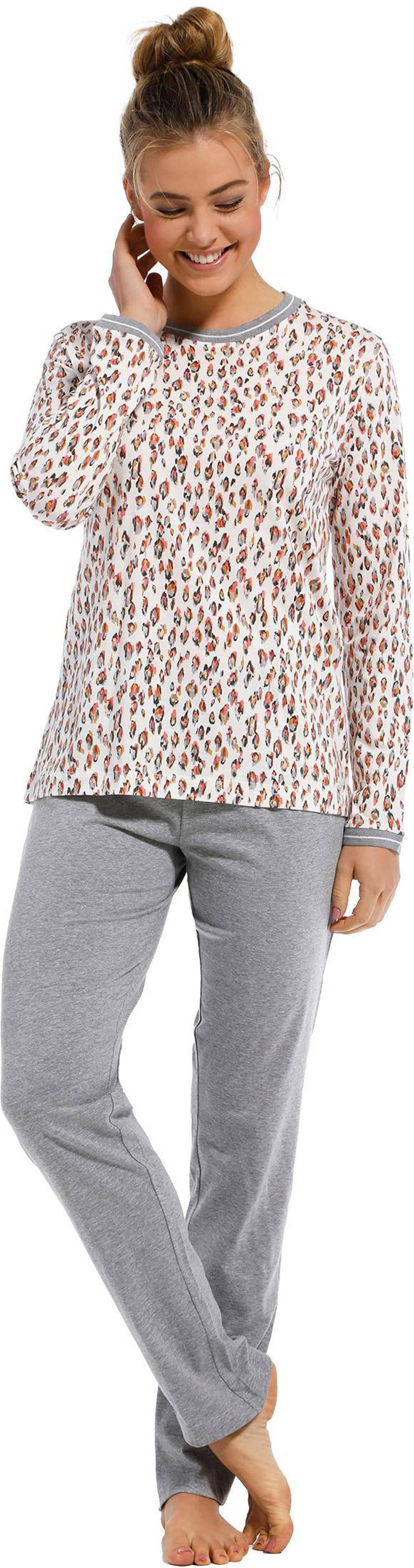 Pastunette pyjama met all over print gebroken wit, Gebroken wit