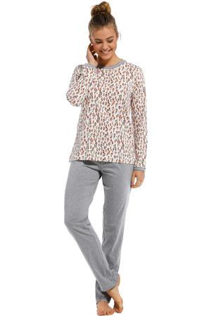 pyjama met all over print gebroken wit