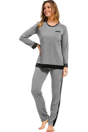 pyjama grijs/donkerblauw