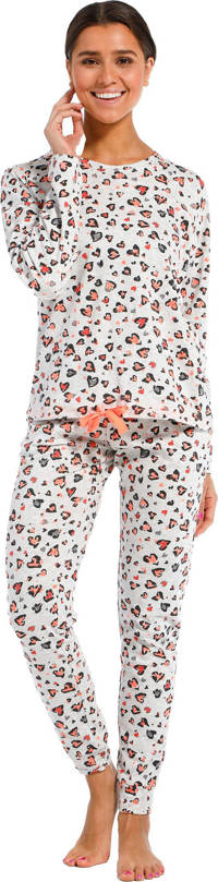 Rebelle pyjama met hartjes grijs, Grijs