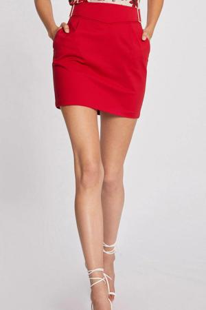 mini rok met plooien rood