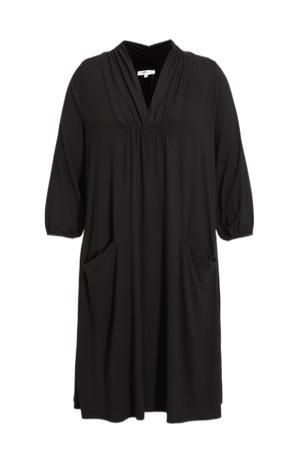 jurk HELYN 432 met plooien zwart