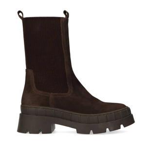 hoge nubuck chelsea boots bruin