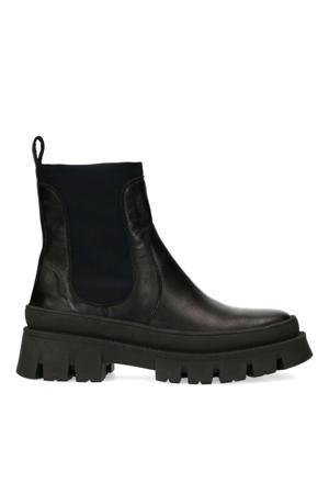leren chelsea boots zwart