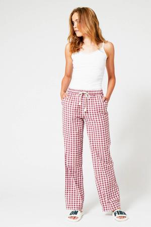 geruite pyjamabroek Loyce rood/wit