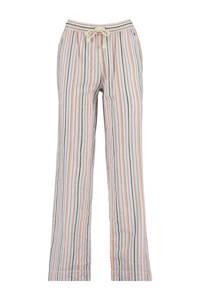 America Today gestreepte pyjamabroek Loyce roze/wit/oranje, Roze/wit/oranje