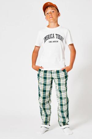 geruite pyjamabroek Lake groen/wit