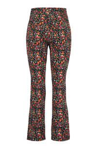 MS Mode Plus Size flared legging met bloemenprint, Zwart/multi