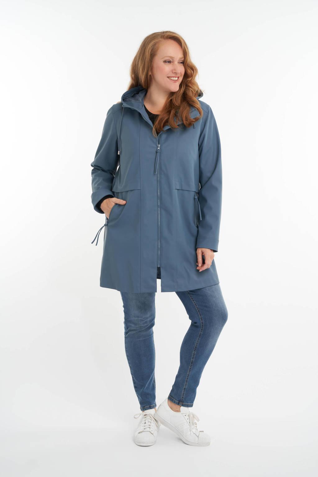 MS Mode regenjas blauw, Blauw