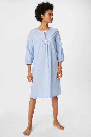 nachthemd met textuur lichtblauw