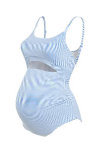 C&A gestreept zwangerschapsbadpak lichtblauw/wit, Lichtblauw