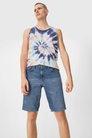 regular fit jeans short blauw