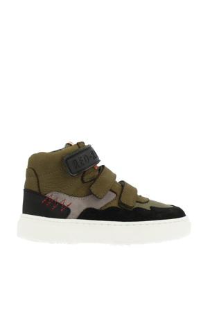 13499  leren sneakers kaki
