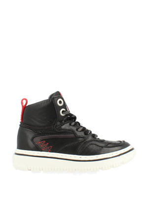 13515  hoge leren sneakers zwart