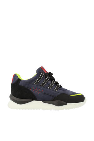 13533  nubuck sneakers blauw