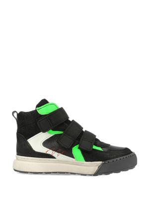 13503  leren sneakers zwart
