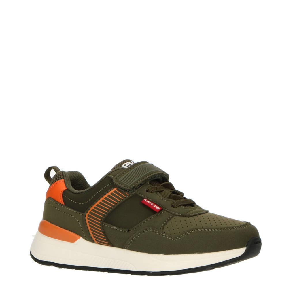 Levi's Kids Providence Vel K  sneakers olijfgroen/oranje, Olijfgroen/oranje
