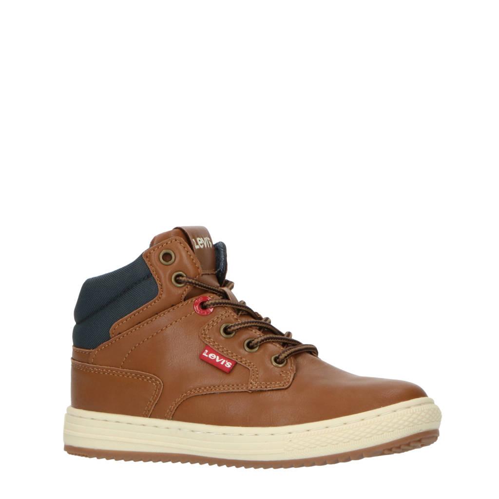 Levi's Kids New Faino K  hoge sneakers cognac, Cognac