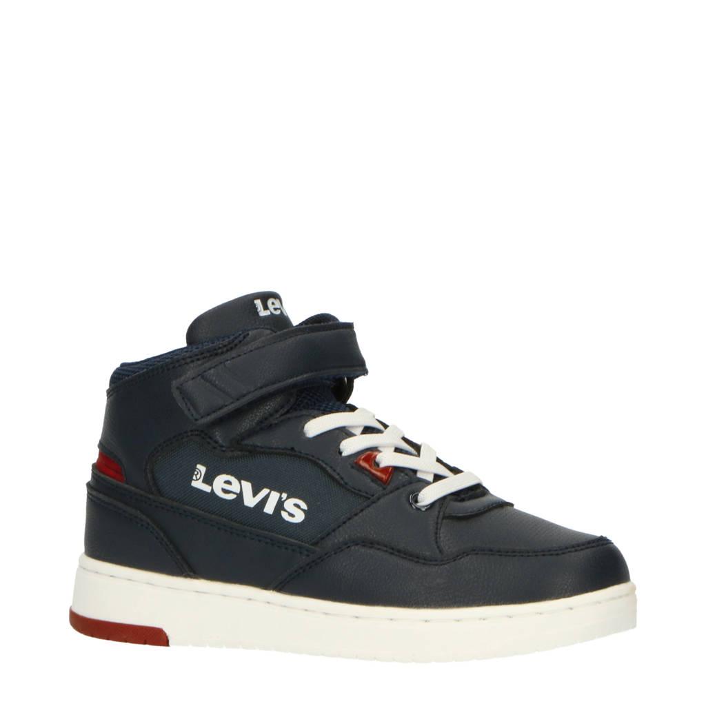 Levi's Kids Block Mid Vel K  hoge sneakers donkerblauw, Donkerblauw