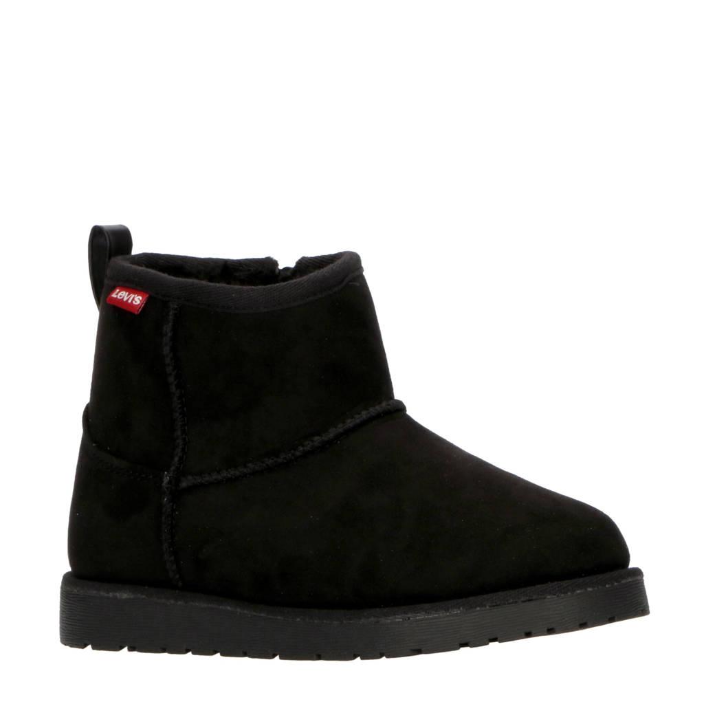 Levi's Kids New Wave Mid Zip Fur K enkelboots zwart, Zwart