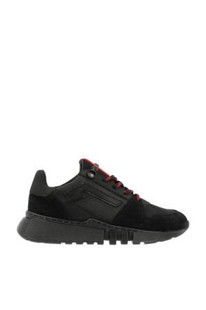 13215  suède sneakers zwart