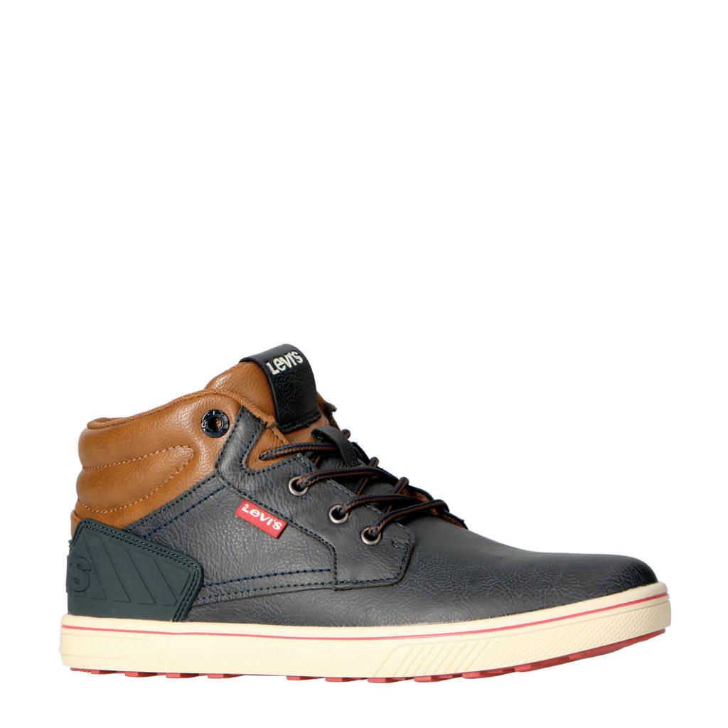 Levi's Kids New Portland Mid T  hoge sneakers donkerblauw, Donkerblauw/Cognac