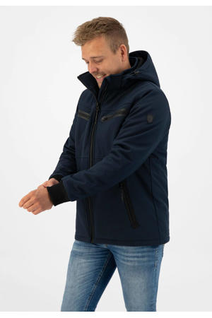 softshell outdoor jas Rens donkerblauw