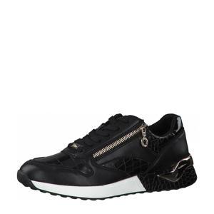 sneakers met crocoprint zwart