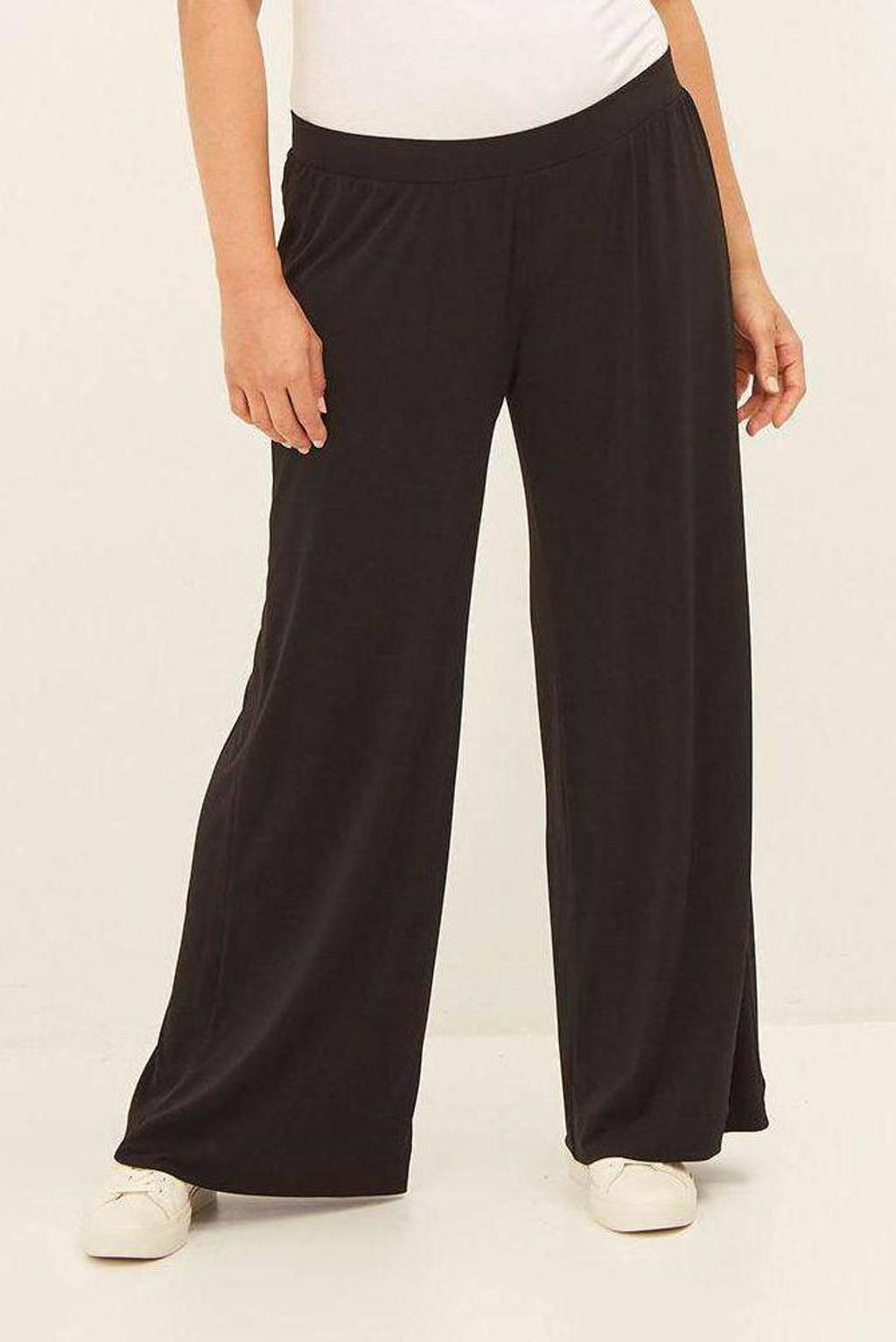 Mat Fashion wide leg palazzo broek zwart, Zwart